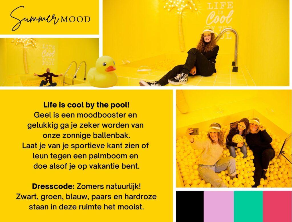 Likeland inspiratie instagram museum decor geel ballenbak summer mood
